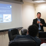 William Valdez giving a presentation to the ESES Advisory Board.