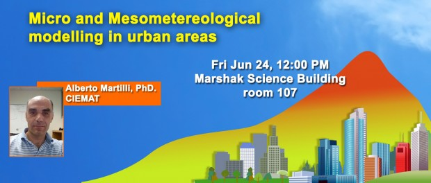 Micro and Mesometereological modelling in urban areas