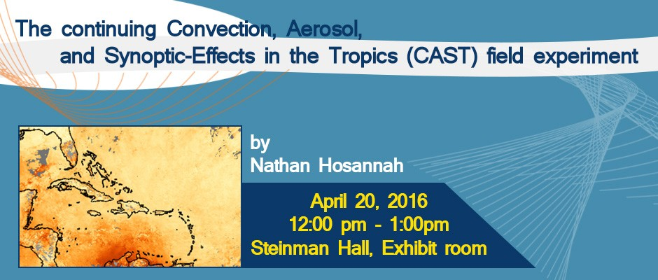 The continuing Convection, Aerosol, and Synoptic-Effects in the Tropics (CAST) field experiment