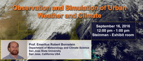 Observation and simulation of urban weather and climate
